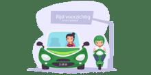 rijden in Rotterdam